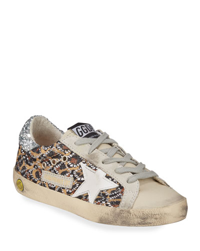 Superstar Leopard Embellished Sneakers  Toddler/Kids