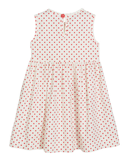 Darling Dot Print Sleeveless Dress, Size 0m-10
