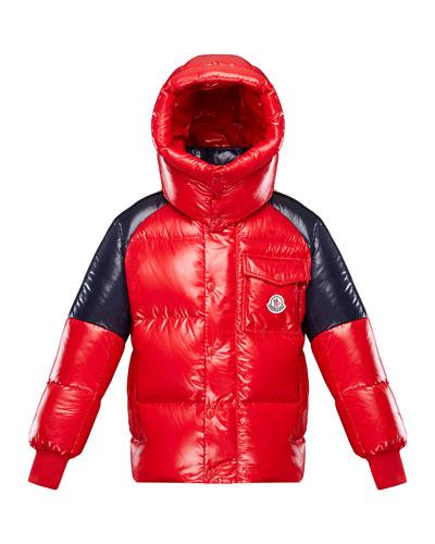 Boy's Sigean Colorblock Puffer Coat  Size 4-6