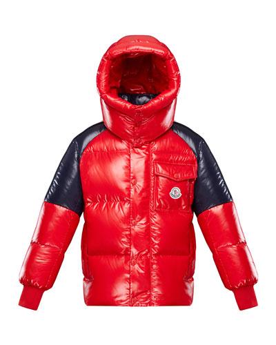 Boy's Sigean Colorblock Puffer Coat  Size 8-14