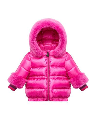 Atlantique Faux-Fur Trim Hooded Coat  Size 12M-3
