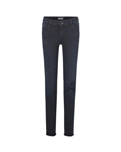 Girl's Chloe Skinny Distressed Denim Jeans  Size 7-16