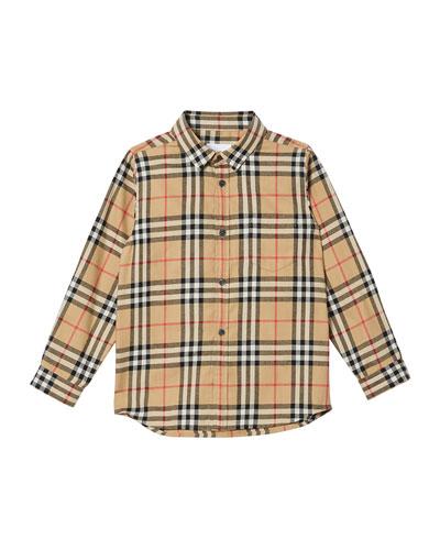 Boy's Fredrick Check Flannel Shirt  Size 3-14