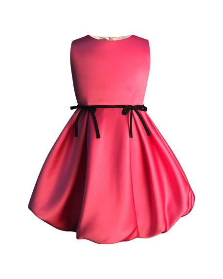 Girl's Sleeveless Satin Dress, Size 2-6