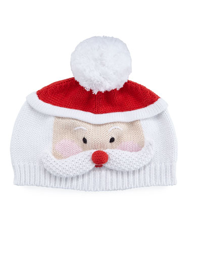 Santa Knit Baby Hat
