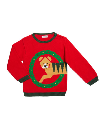 Boy's Holiday Tiger Sweater  Size 12M-7