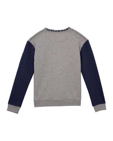 Boys' French Terry Crewneck Sweatshirt, Size S-XL