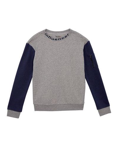 Boys' French Terry Crewneck Sweatshirt  Size S-XL