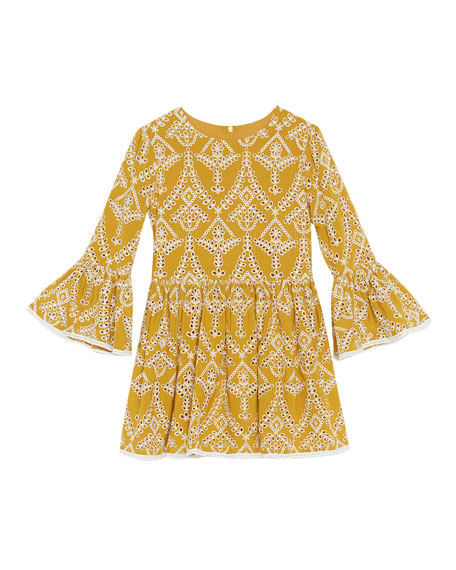 Girl's Sia Embroidered Dress, Size 7-18