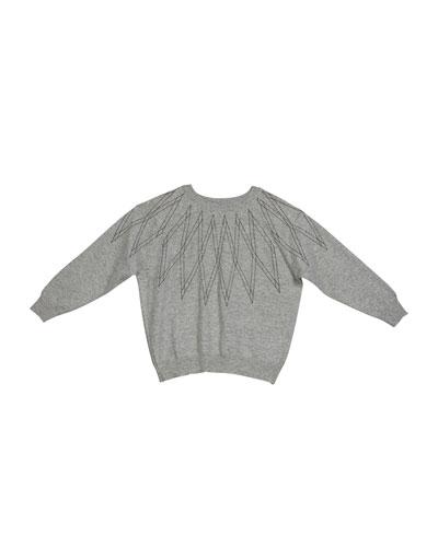 Girl's Monili Argyle Cashmere Sweater  Size 12