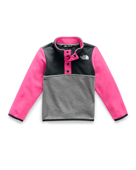 Girl's Glacier Colorblock Snap Front Pullover Jacket, Size 2-4T