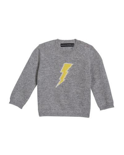 Lightning Bolt Intarsia Cashmere Sweater  Size 3-24 Months