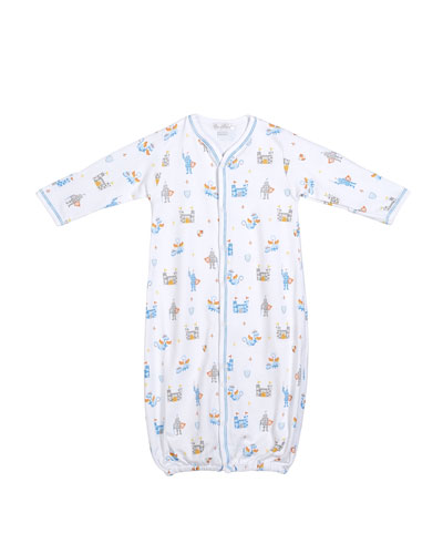 Dragon Castle Printed Convertible Sleep Gown  Size Newborn-Small