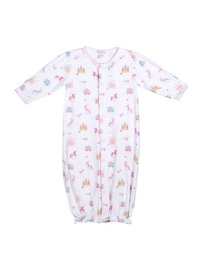 Unicorn Castle Convertible Sleep Gown  Size Newborn-Small