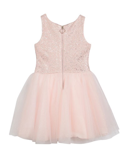 Girl's Shai Foiled Tulle Party Dress 2-Piece Set  Size 4-6X