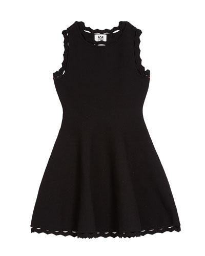 Zigzag-Trim Flare Dress  Size 4-6