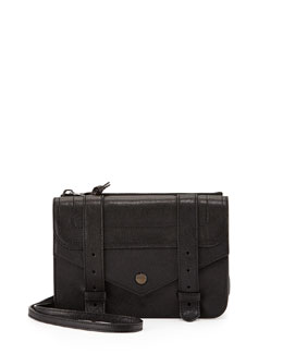 PS1 Crossbody Wallet, Black