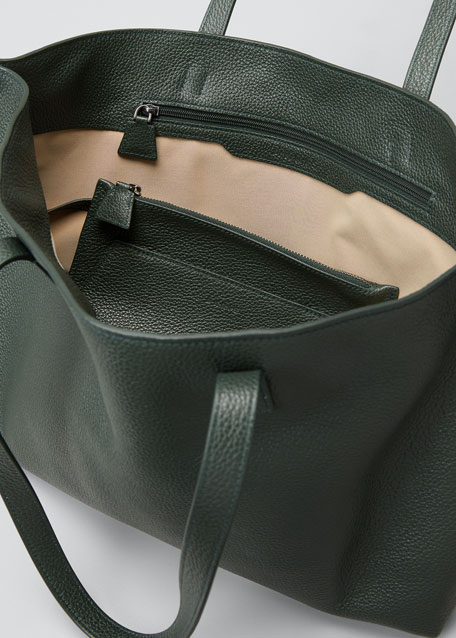 Ai Small Leather Shoulder Tote Bag