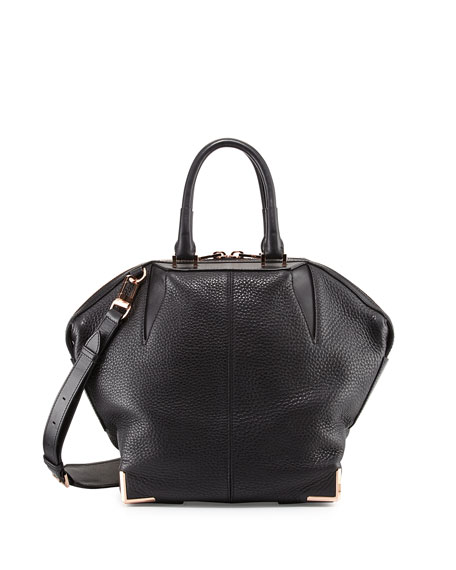 2419bed28191 Alexander Wang Emile Pebbled Leather Angled Tote Bag