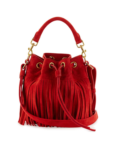 7d4e586873 Saint Laurent Emmanuelle Small Fringe Bucket Bag