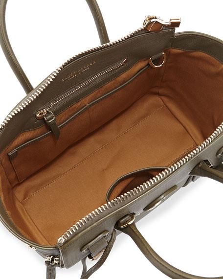 Ricky 27 Tumbled Satchel Bag, Olive