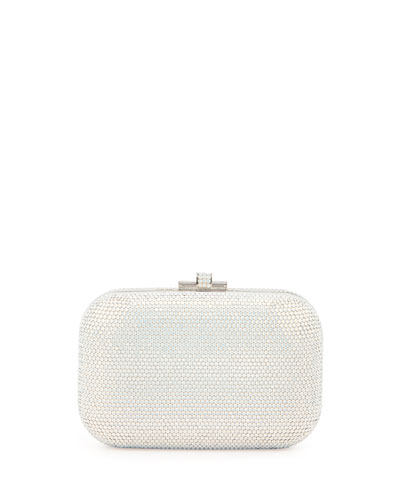 Pave Crystal Minaudiere, Silver