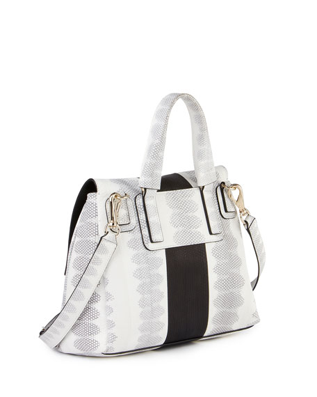 3d0cfc07c5 Givenchy Pandora Pure Two-Tone Snakeskin Satchel Bag