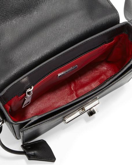 98ee3d6355d2 Prada Saffiano Small Sound Crossbody Bag, Black (Nero)