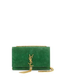 Monogram Medium Tassel Crossbody Bag, Green