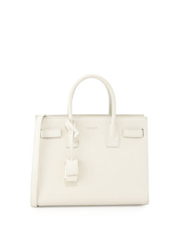 Sac de Jour East-West Baby Tote Bag, White