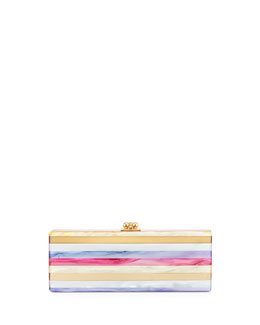 Flavia Mixed-Stripe Clutch Bag