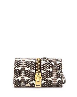 Sedgwick Python Zip Clutch Bag, Neutral