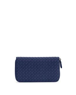 Continental Zip-Around Woven Wallet