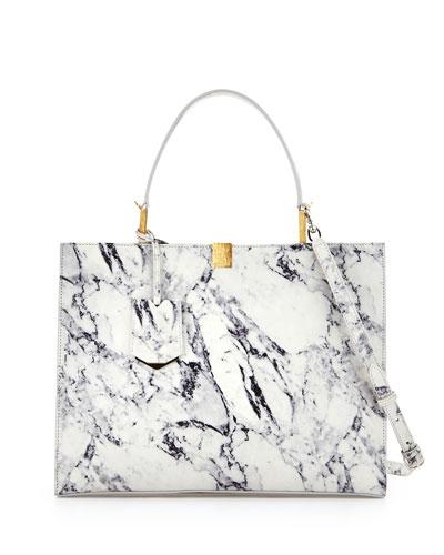 Le Dix Cabas Marble Tote Bag