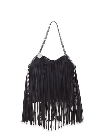 Mini Falabella Fringe-Trimmed Tote Bag