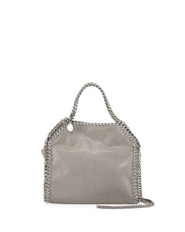 Mini Falabella Crossbody Bag, Gray