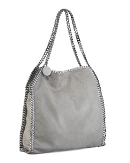 Falabella Small Shoulder Bag, Light Grey