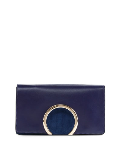Gabrielle Leather Clutch Bag