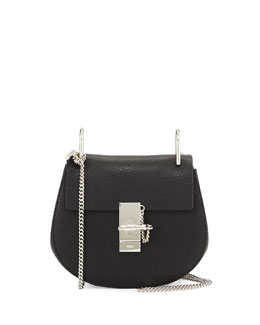Drew Mini Chain Shoulder Bag, Black
