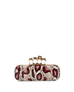 Python Skull Knuckle-Duster Box Clutch Bag