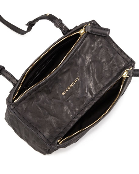 Pandora Mini Leather Crossbody Bag, Black