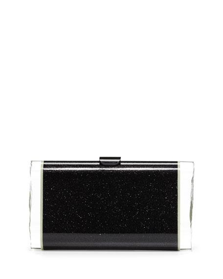 Edie Parker Lara Backlit Glow-in-the-Dark Acrylic Clutch Bag,