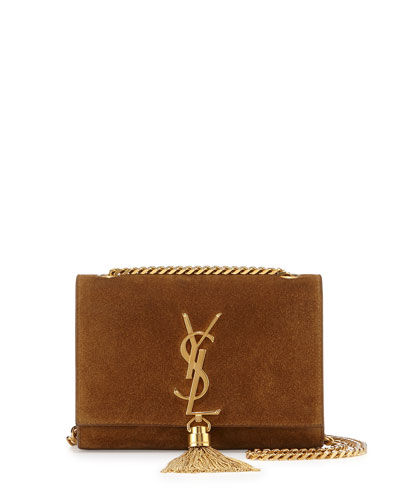 Monogram Small Suede Tassel Crossbody Bag