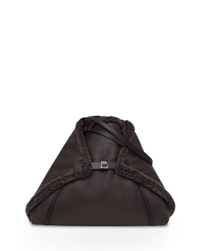 Ai Medium Shearling Fur Tote Bag