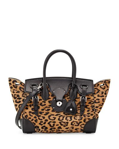 Ricky 27 Leopard-Print Calf Hair Satchel Bag