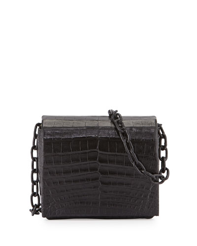 Mini Crocodile Flap-Top Shoulder Bag