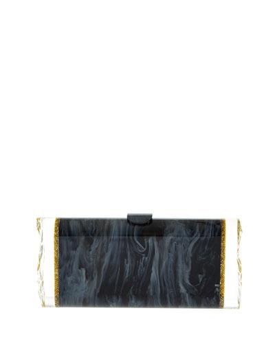 Lara Two-Tone Backlit Clutch Bag