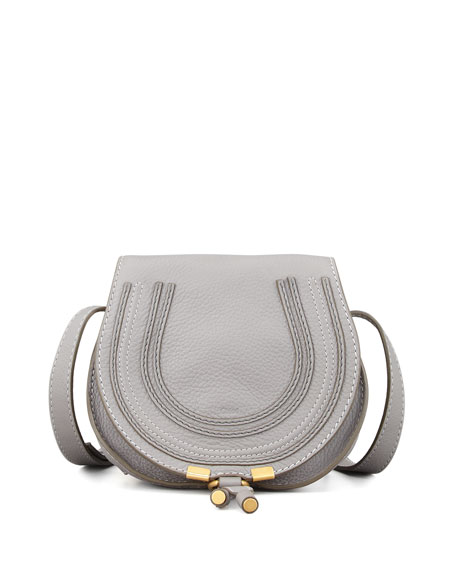 Marcie Mini Leather Saddle Bag