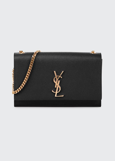 Monogram Medium Chain Shoulder Bag, Fog