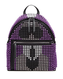 Karlito Allover Studded Backpack